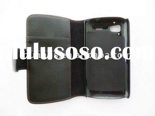 Wallet card holder pu leather case for htc sensation