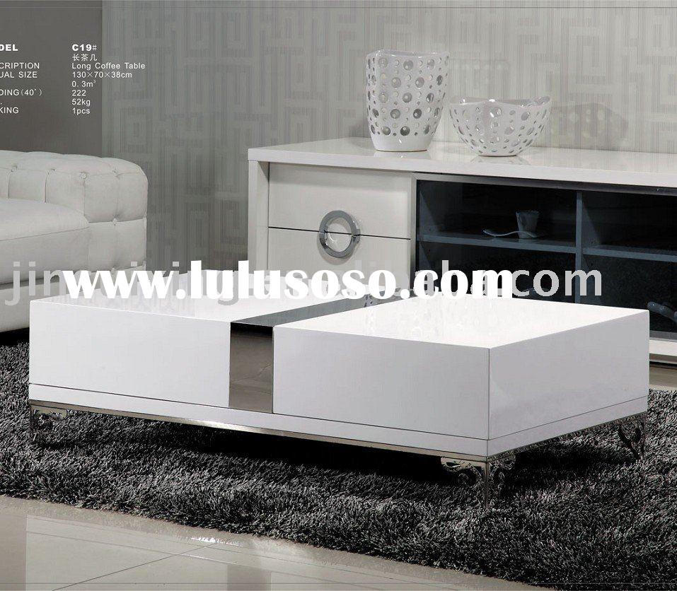 High Gloss White Coffee Table Round Angle Black Glass Top: Gloss White Coffee Table, Gloss White Coffee Table