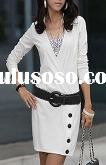 Women's long sleeves fashionable dress 2011
