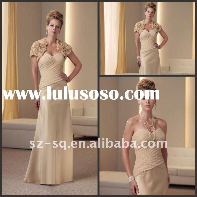 Yellow Chiffon Formal Mother Of Bridal Dress 2011 Y0637