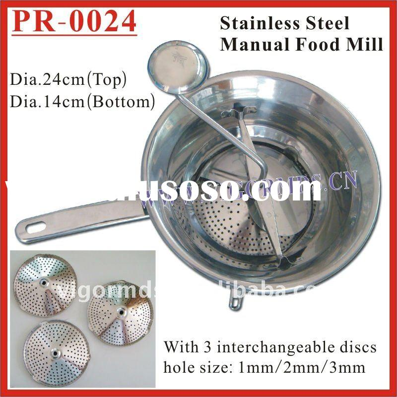 (PR-0024) 24 Dia. Stainless Steel Food Mill / Vegetable Mill / Ricer / Blender