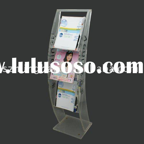 acrylic brochure display stand& magazine rack
