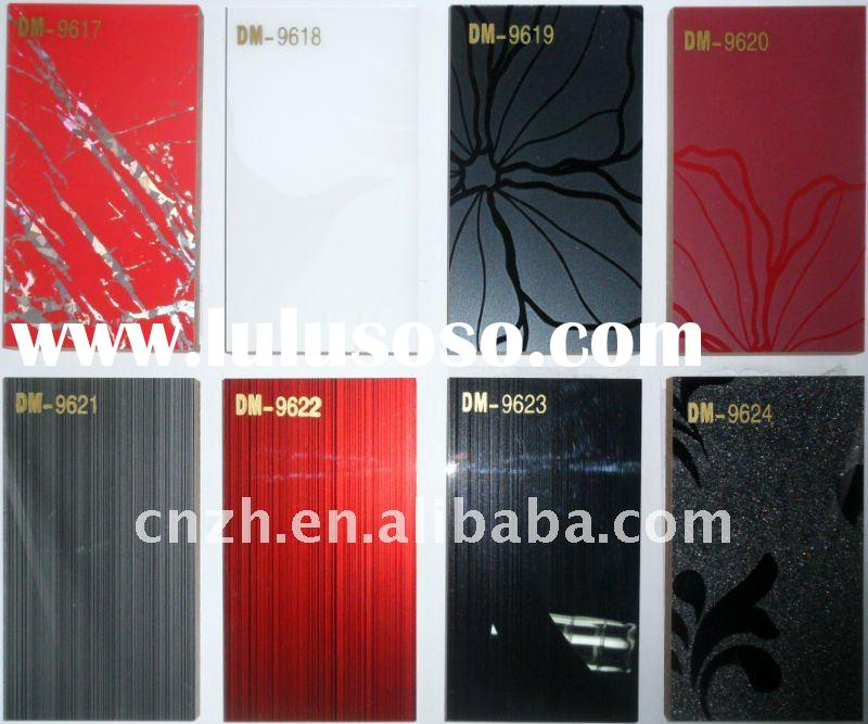 acrylic demet kitchen cabinet door panel's color sample&glossy mdf panel for cabinet