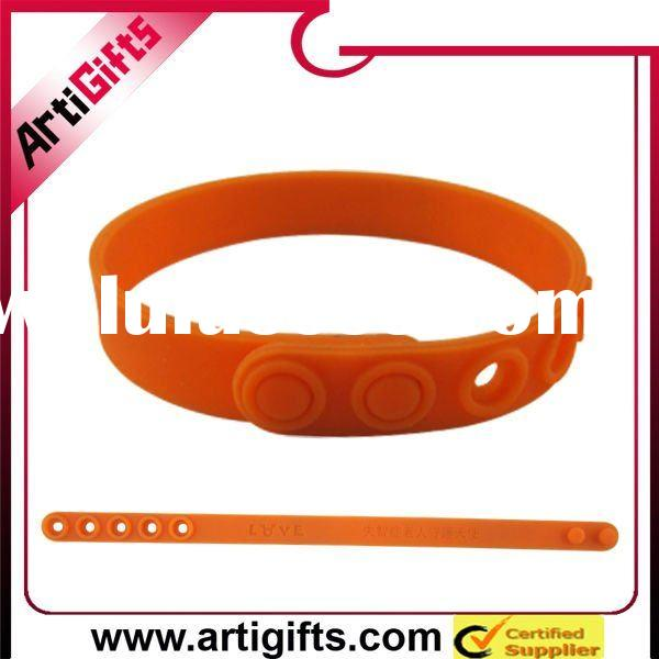 adjustable silicone rubber wristband