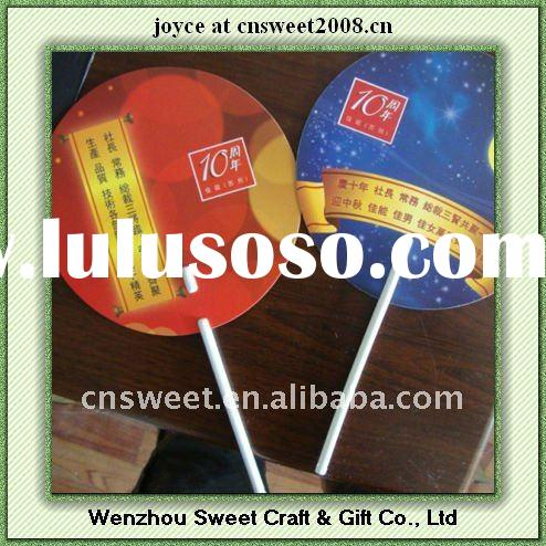 advertising for summer colorful printing plastic hand fan