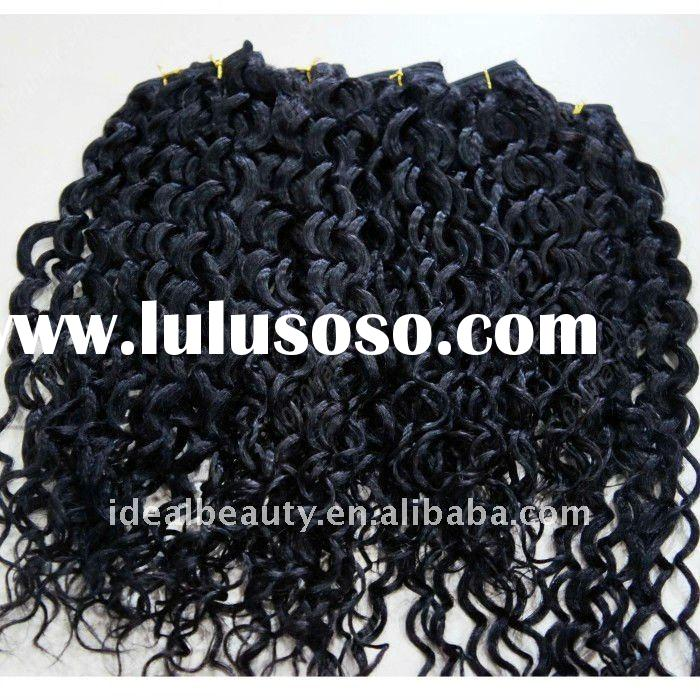 afro curly hair extension weft indian remy human hair