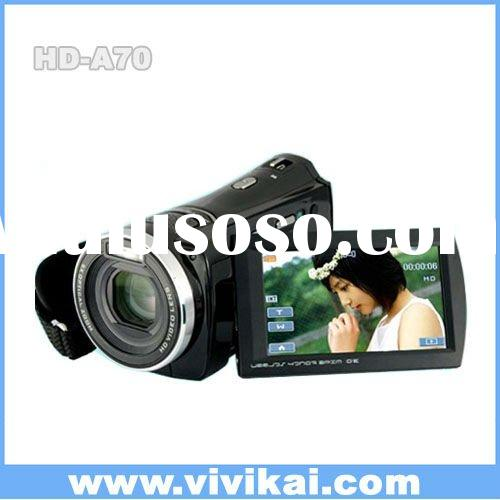 "anti-shake 1080P Full HD digital video camera with 3.0"" touch screen"