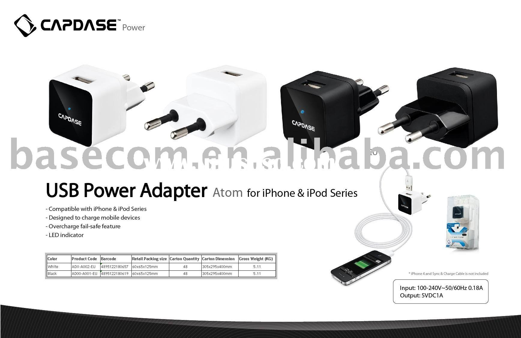 capdase USB power adapter for iPhone and iPod series