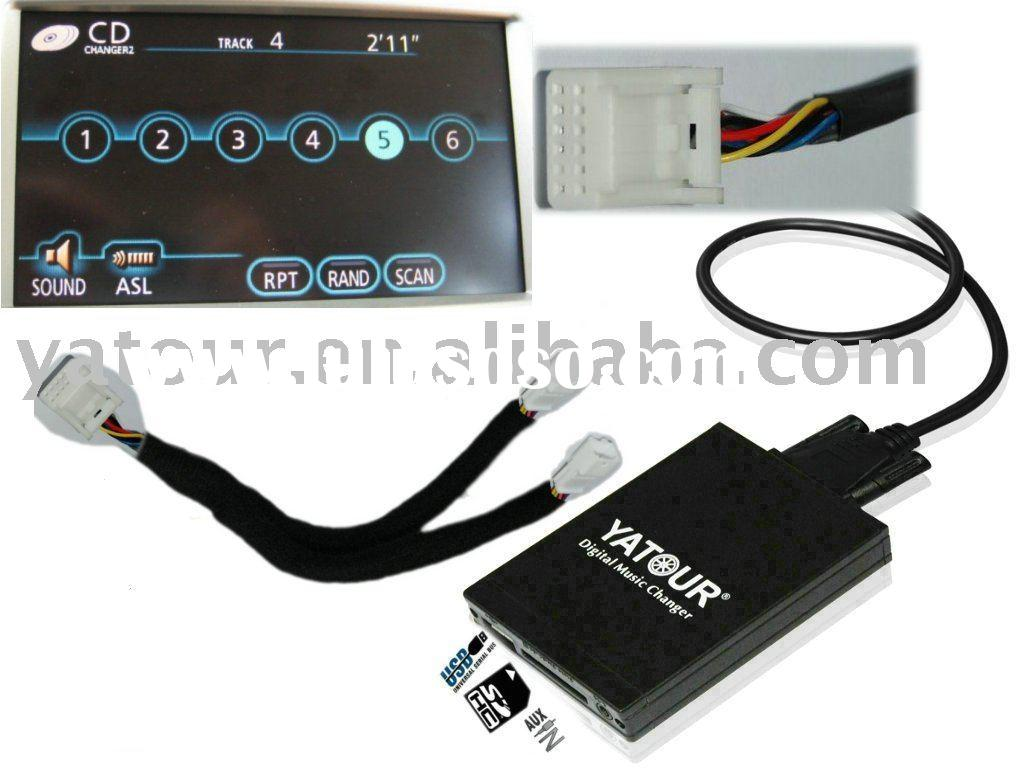 car CD changer for toyota navi XM radio (DMC USB MP3 interface)