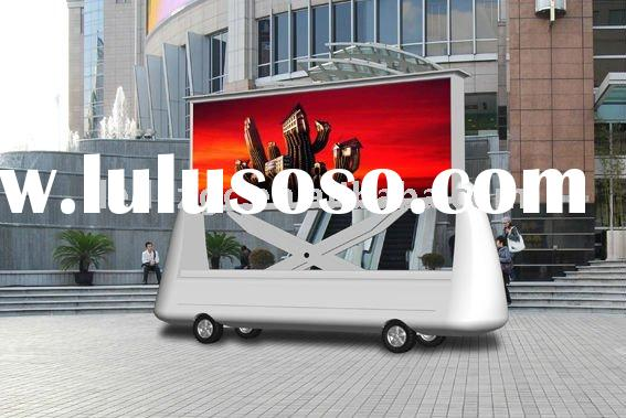 car mobile P10 outdoor led commercial advertising display screen