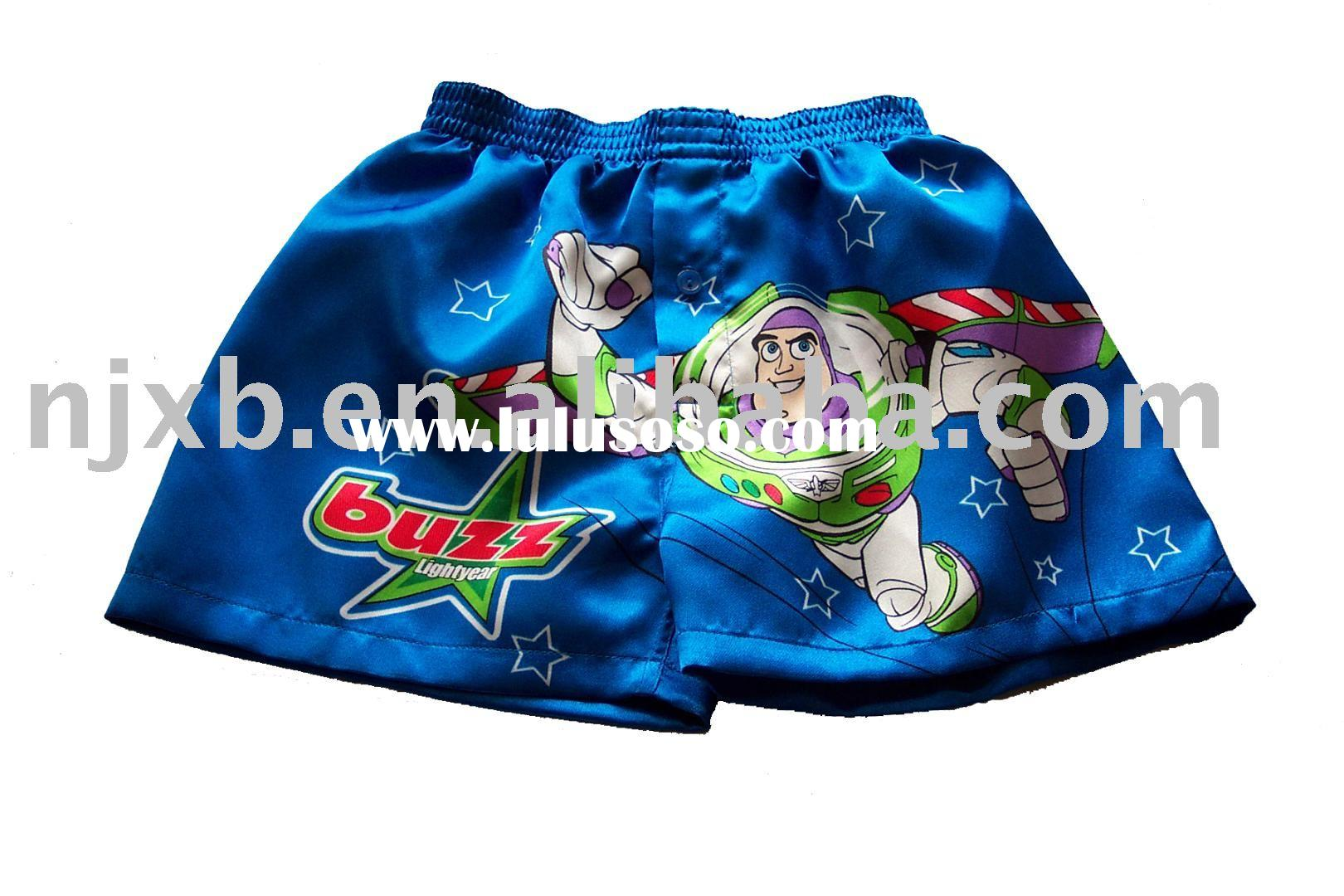 cartoon boxer shorts &beach shorts & satin shorts