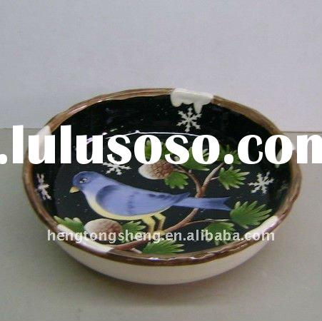 ceramic large soup bowls with bird design