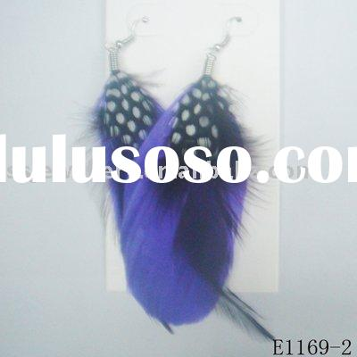 cheap feather earrings or fashion costume jewelry