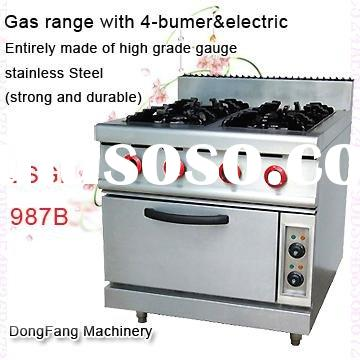 cheap gas cookers for sale gas range with 4-bumer with electric oven