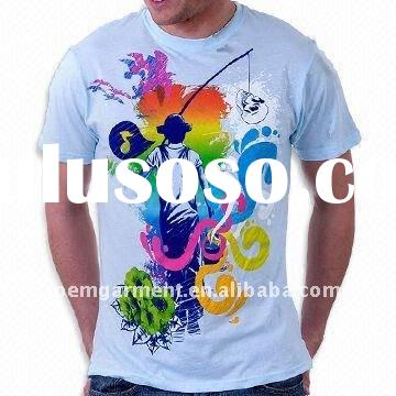 cheap wholesale t shirt for man and woman with your logo from factory directly