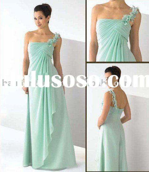 chiffon 2012 hot sell one-shoulder evening dress