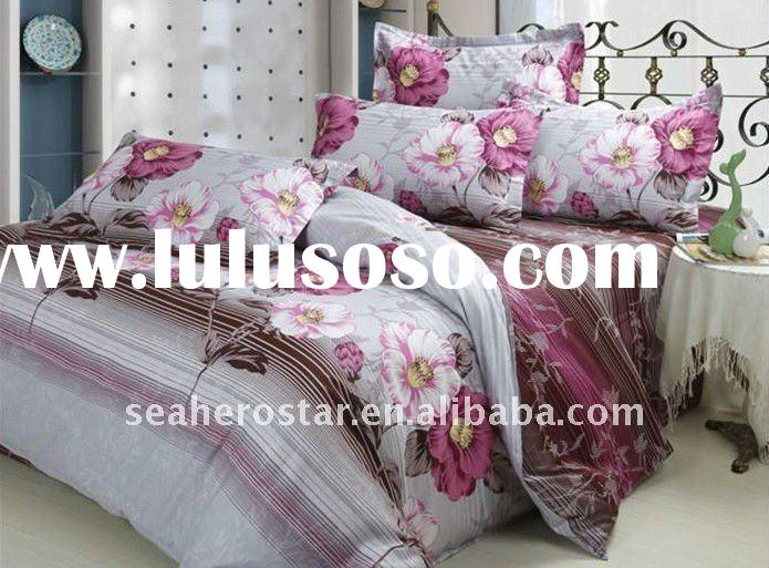 cotton polyester printed bedding set / bed sheet