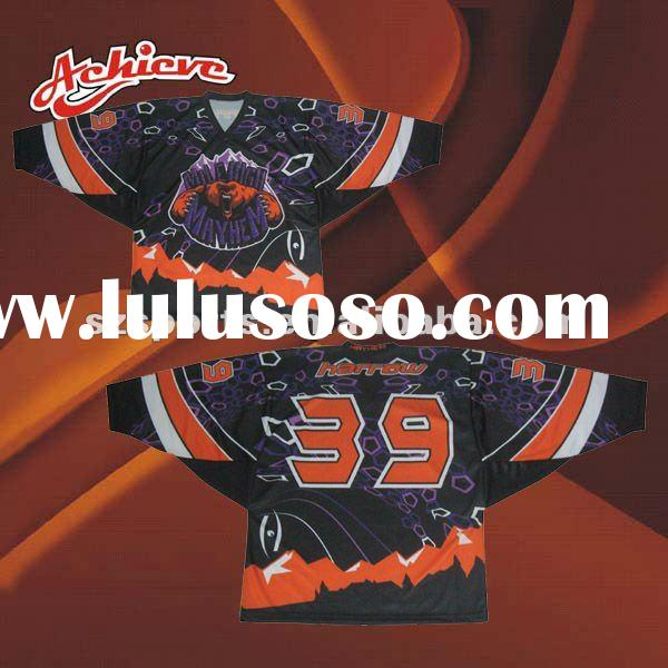 custom all over sublimation ice hockey jerseys