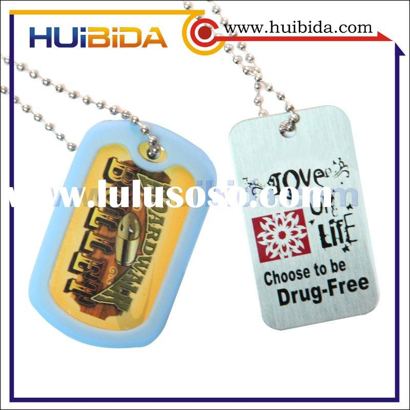 custom metal dog tag with rubber