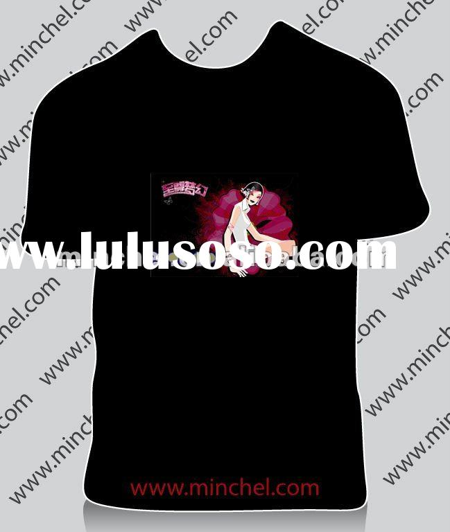 customized flashing t-shirt ( factory price, good quality, fast send)