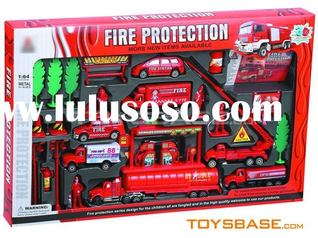 diecast fire truck set toy