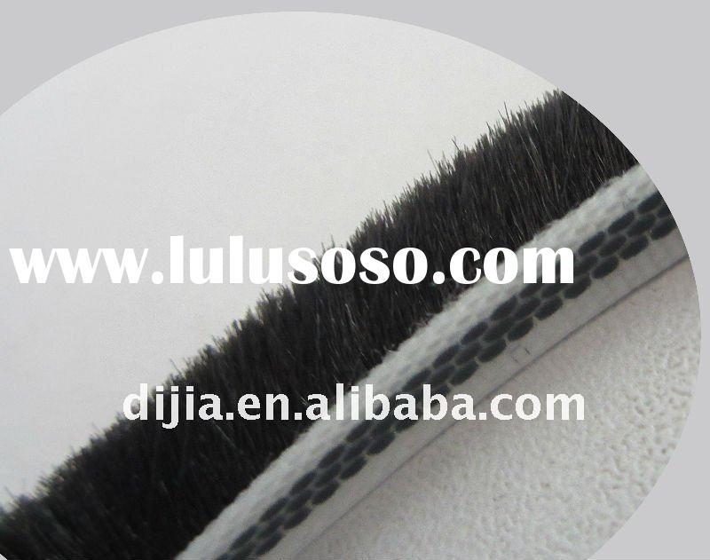 door bottom seal weather strip/rubber seal strip for bathroom/brush pile seal strip