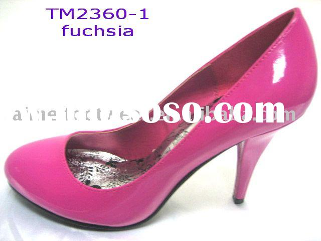 dress Shoes,ladies' fashion shoes,footwear TM2360-1 Fuchsia PU Pumps