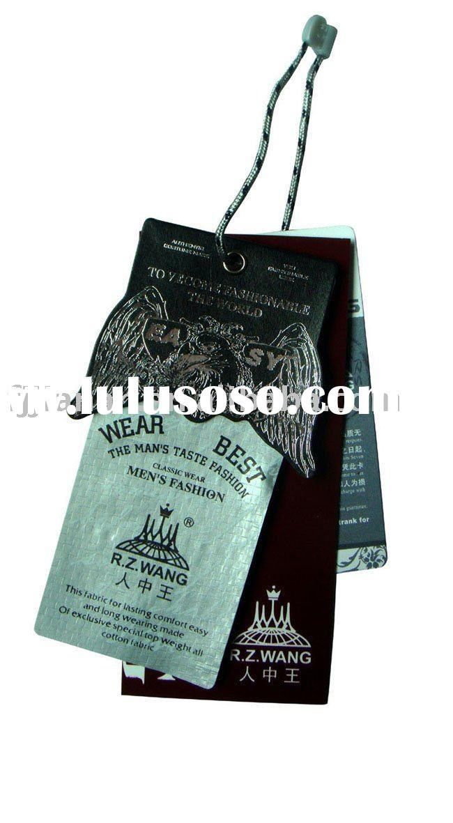 embossing garment jeans paper hang tags