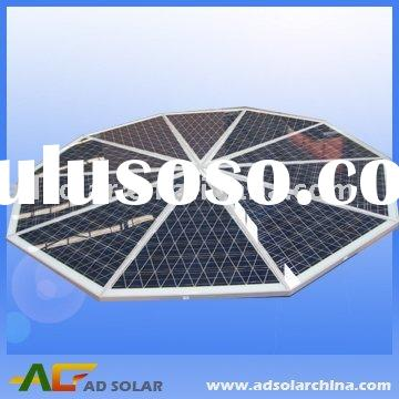 equilateral triangle solar panel 100W with diffrent shape