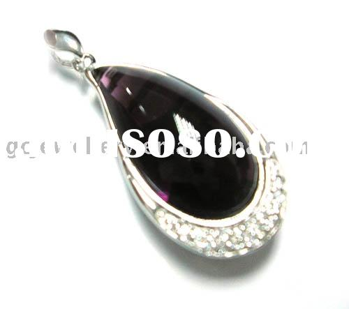 fashion 925 silver and gemstone jewelry pendant