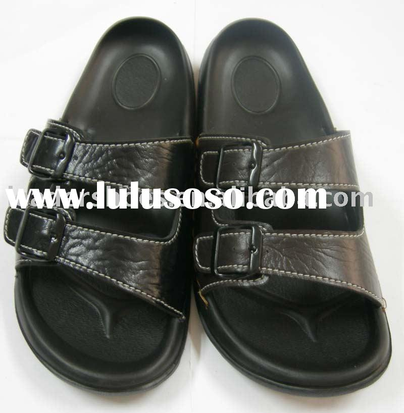 fashion slippers,Men's sandals,leather slippers,PU slippers