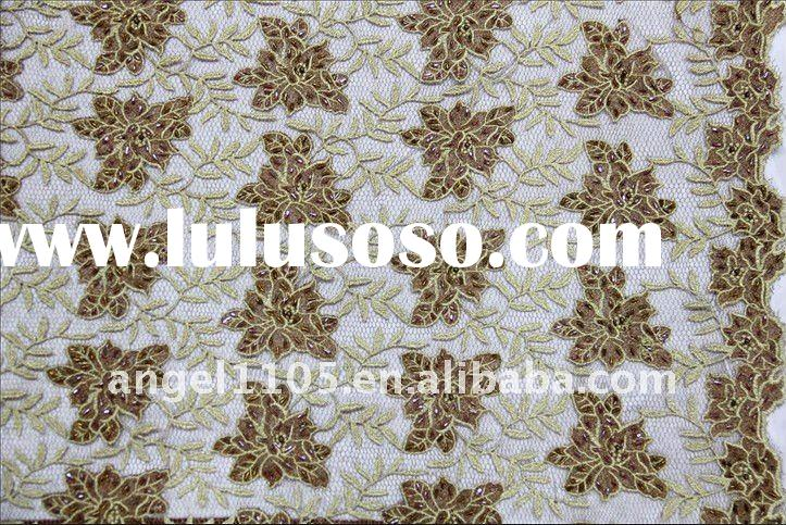 Embroidery fabric with handwork