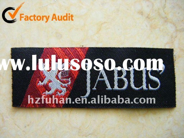 fashionable customized logo woven labels for clothing
