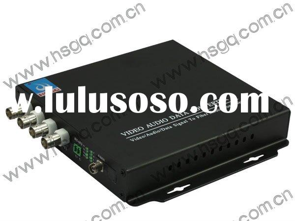 fiber optic audio video transmitter receiver (1~48 video)