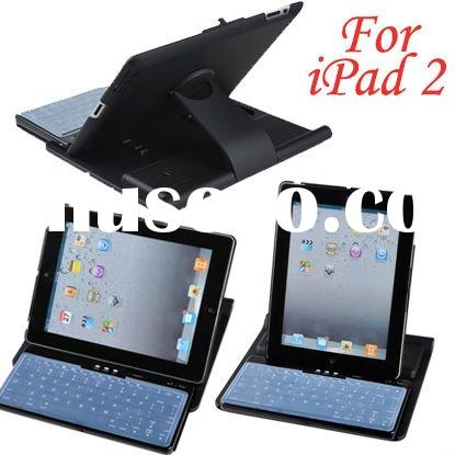 for iPad 2 Case with 360 Rotating Stand wireless bluetooth keyboard