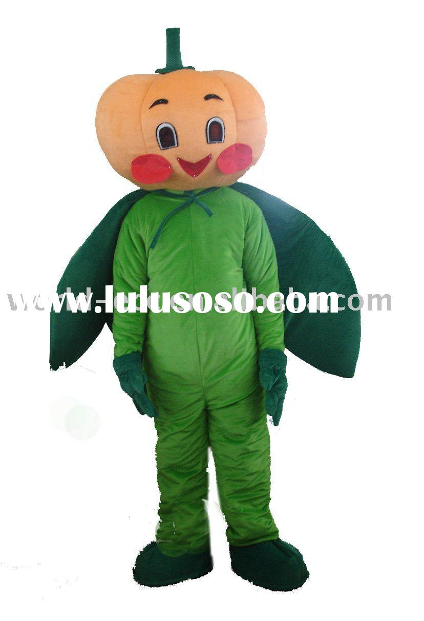 halloween pumpkin costume, vegetable mascot costume, fur cartoon costume