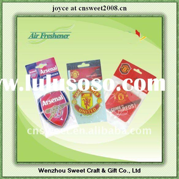 hanging car interior promotional gift car air freshener paper