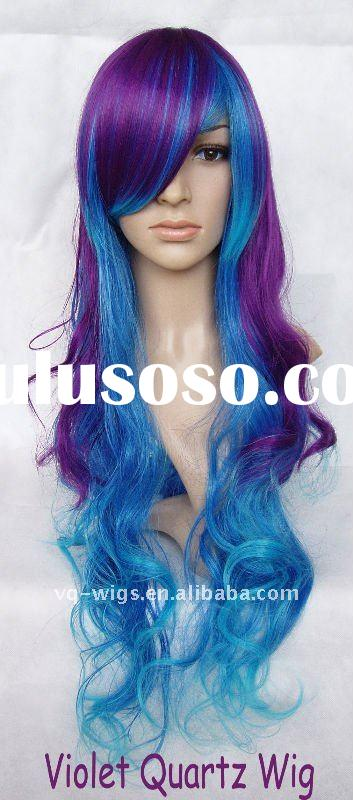 heat resistant fiber synthetic hair anime cosplay wig JKJ 075