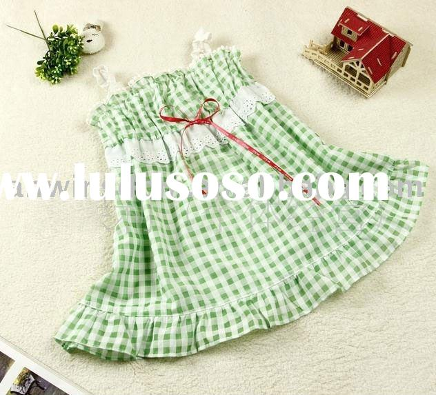 hot sale 2011 girl's new and hot cotton nice suspender dress