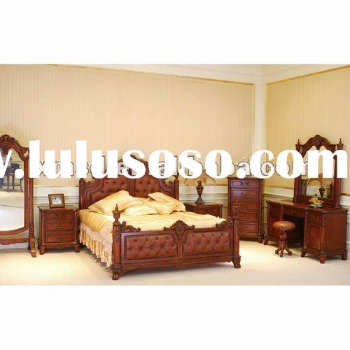 Antique Walnut King Size Bed
