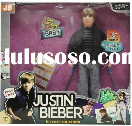 justin bieber doll with snow ski toys