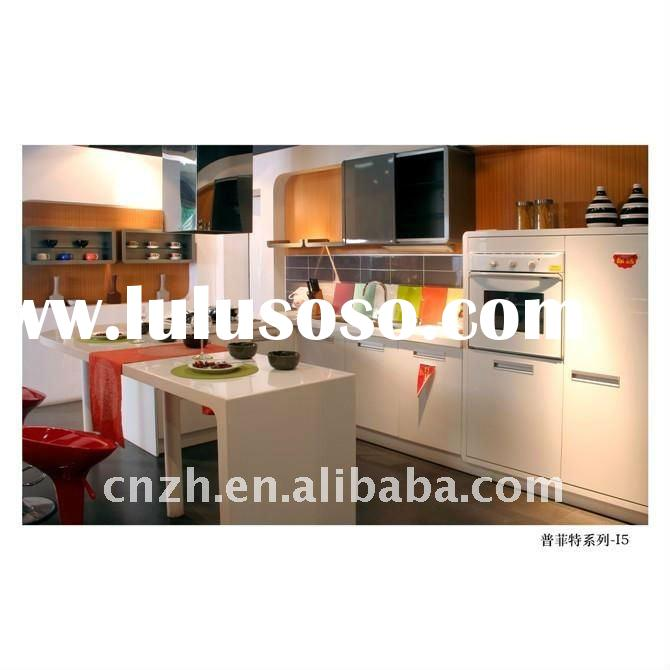 knock down kitchen cabinets(uv high glossy color painting panel for kitchen cabinet door)
