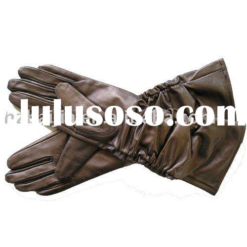 ladies leather glove/fashion glove/safety glove/pig/goat leather