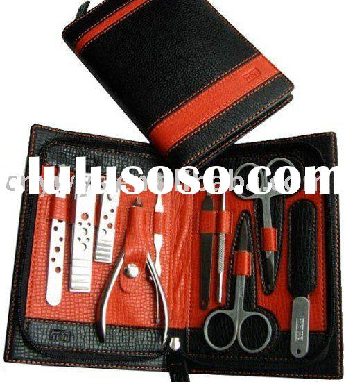leather manicure set for both men and women