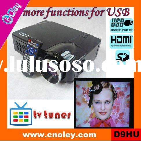 low cost hd home theater projector 1080p HDMI built in tv tuner