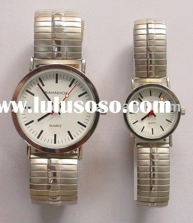 metal fashion couple watch PH6579 with alloy case and steel band