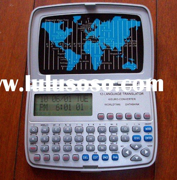 mini pocket 12 languages electronic dictionary translator with calculator