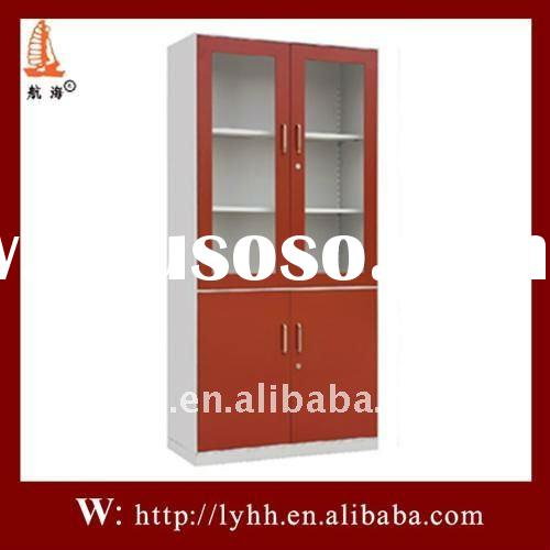 new design and fashion style modern bar cabinet with half of glass door