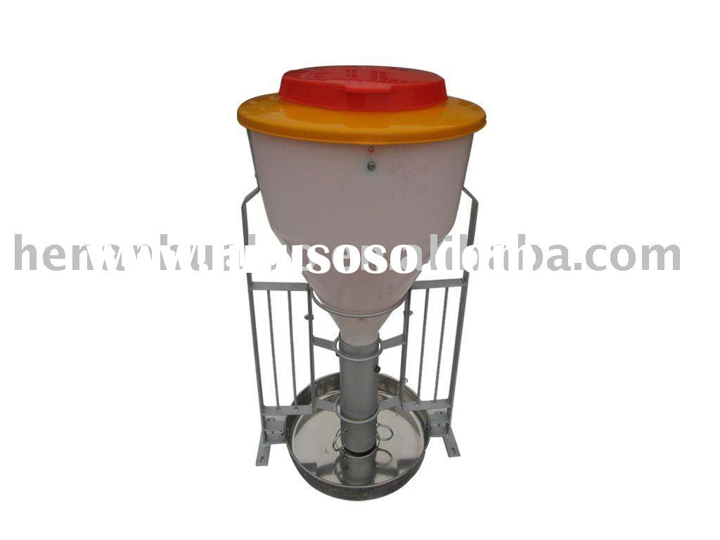 pig feeder (plastic body;with water tube)