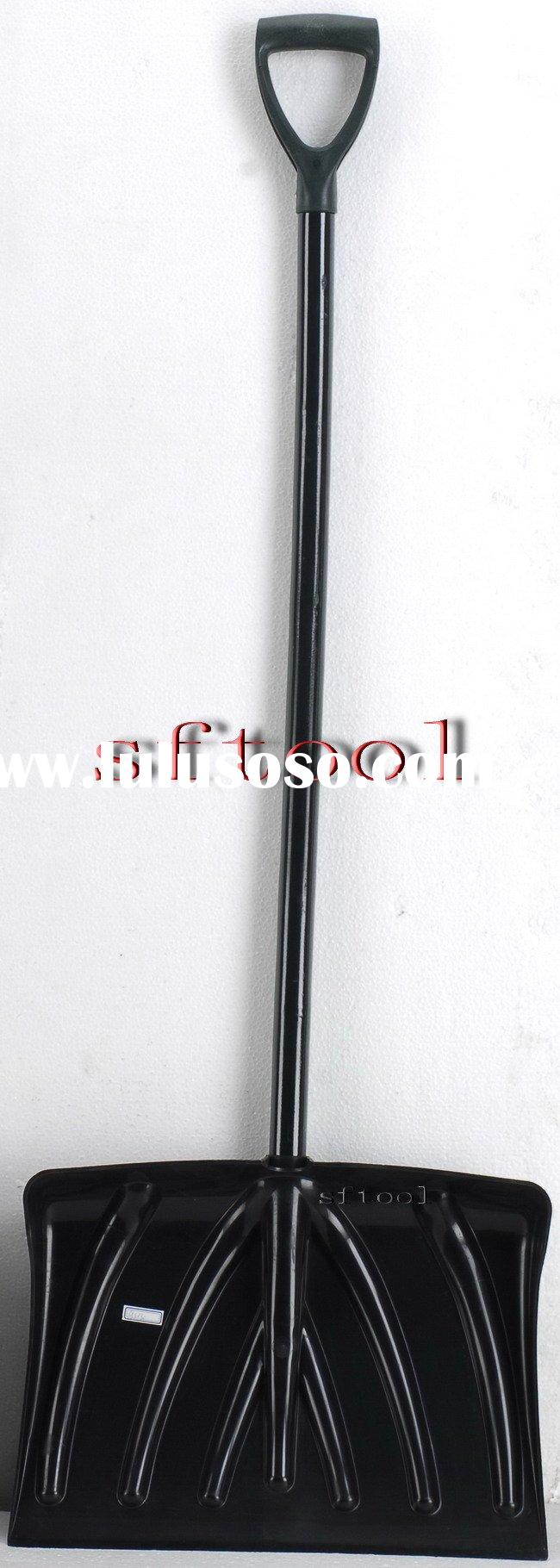 plastic snow shovel with long handle
